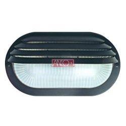 ANCO Plastic oval lamp, black, 60W