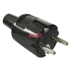 ANCO Grounding PVC plug, black