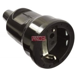 ANCO Grounding PVC socket, black
