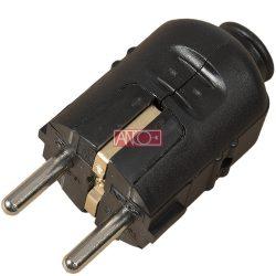 ANCO Grounding plug central, 16A, 250V, black