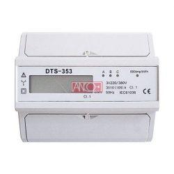 Digitális almérő DIN sínre, 3 fázisú