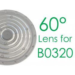 T6228/A0,60°Lens for B0320  B0320-AB-NW-60°, LED High Bay Light, 1-10V Turbo 324*179mm, 150W, 60°, 4000K, IP65