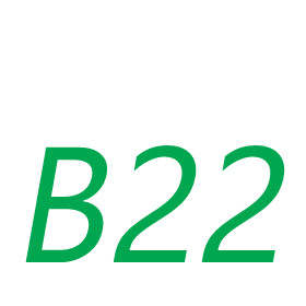 B22-es foglalatú fényforrások