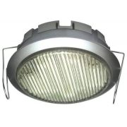 LANDLITE DL-GX53-9W, 1pcs 230V 9W GX53 CFL (energy saving lamp), silver, downlight type, under cabinet light