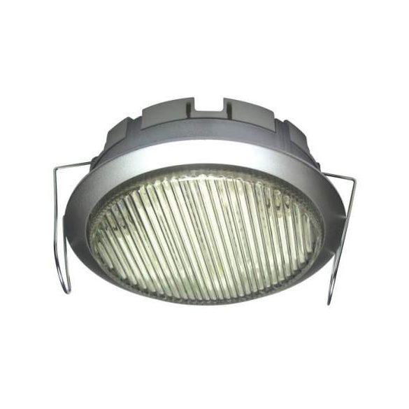 LANDLITE DL-GX53-9W, 1pcs 230V 9W GX53 CFL (energy saving lamp), silver, downlight type, under cabinet light