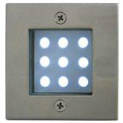 LANDLITE LED-GR92-3, 3x1,0W, 3pcs SET, transformer, metallic colors: matte chrome, IP68, recessed LED ground