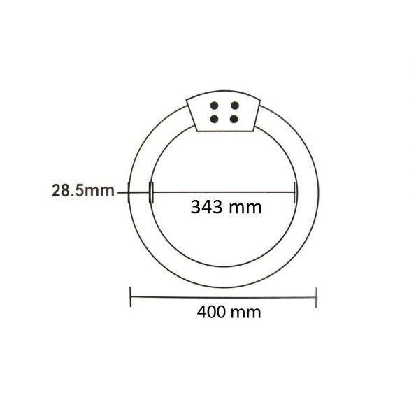 LANDLITE Energy saving, G10q, 40W, 3000lm, 2700K circular fluorescent bulb (CCL-40W)