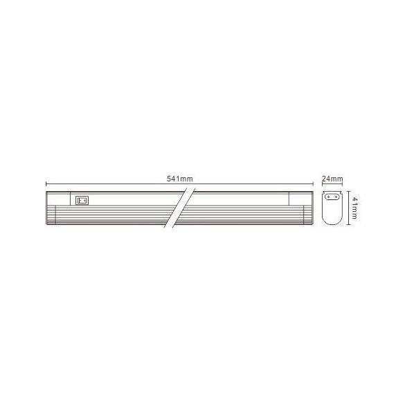 LANDLITE EBL/N-13W T5, thin, with lamp shade, with switch, cabinet light (fluorescent armature), extendable