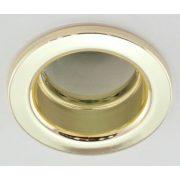 LANDLITE DL-610, 1X230V R50 E14 max 40W, fix design, single downlight lamp, brass