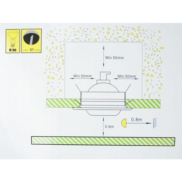 LANDLITE DL-710, 1X230V R50 E14 max 40W, tilt, single downlight lamp, chrome