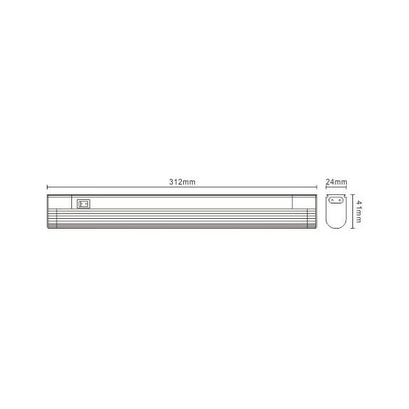 LANDLITE EBL/N-8W T5, thin, with lamp shade, with switch, cabinet light (fluorescent armature), extendable