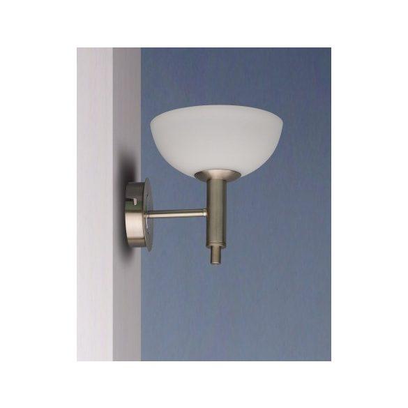 LANDLITE FLOYD modern wall lamp 1xG9 40W 230V (mat chrome / white glass)
