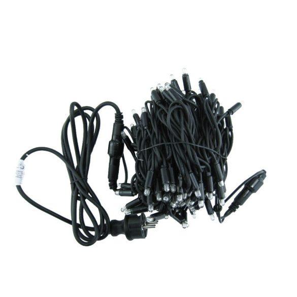 LANDLITE 230V RSL-100-10M-230V/W, 100pcs 6mm big bulb (warm white), 10 meter, 17,5W, outdoor light chain, interconnectable