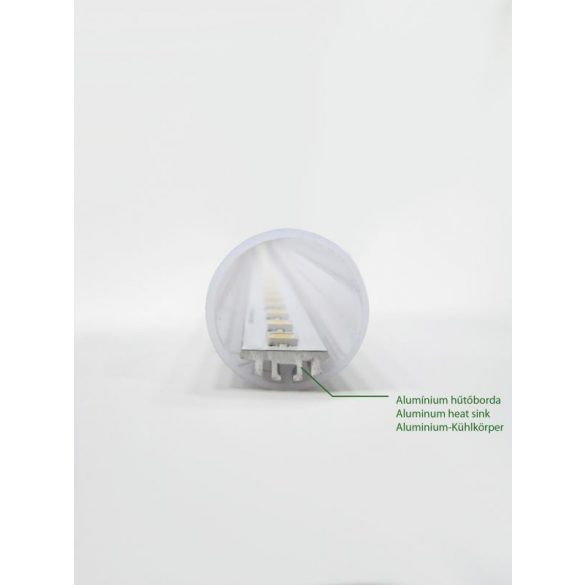 LANDLITE LED, T8, 600mm, 9W, 900lm, 4000K, glass shade fluorescent tube (LED-T8-600mm-9W)
