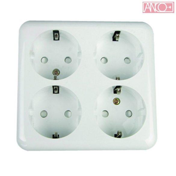 ANCO Austin four grounding socket, white