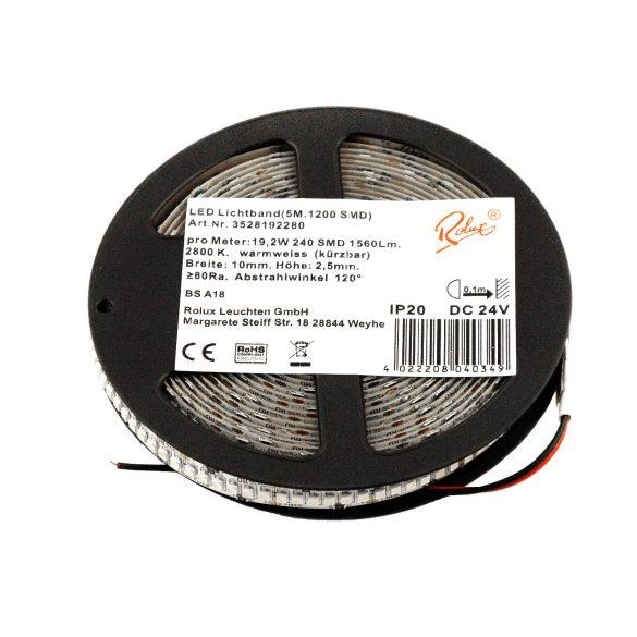 LED Strip 19.2W/m 240SMD/m 24V 2800K 5m
