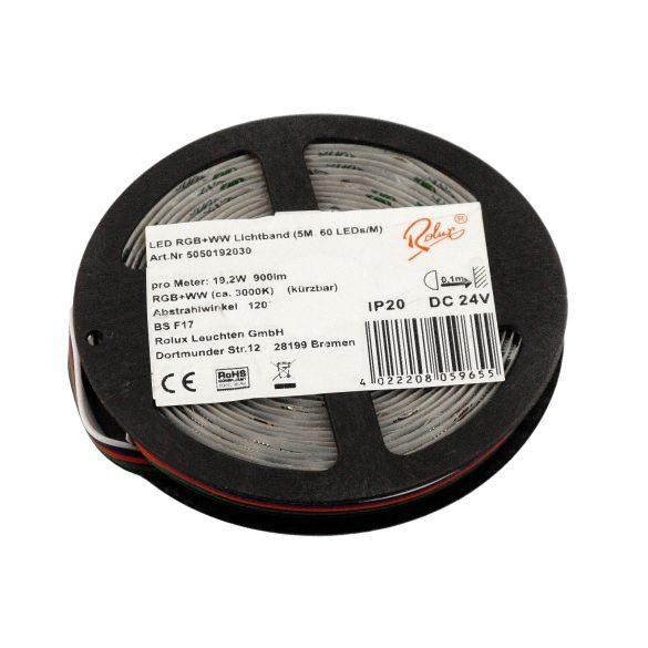 LED Strip, 19.2W/m, 60SMD/M, 24V,IP20,RGB-WW